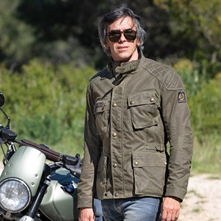 Belstaff McGee wax cotton jacket in military greenAlternative Image1