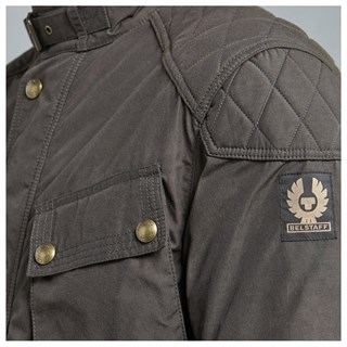 Belstaff McGee wax cotton jacket in black brownAlternative Image1