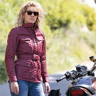 Belstaff Trialmaster Pro wax cotton ladies jacket in racing redAlternative Image1
