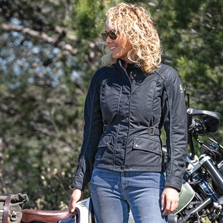 Belstaff Tourmaster Pro wax cotton ladies jacket in blackAlternative Image2