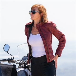 Belstaff Antrim wax cotton ladies jacket in redAlternative Image1