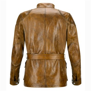 Belstaff Aintree Trialmaster leather jacket in burnt cueroAlternative Image1