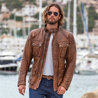 Belstaff Aintree Trialmaster leather jacket in burnt cueroAlternative Image2