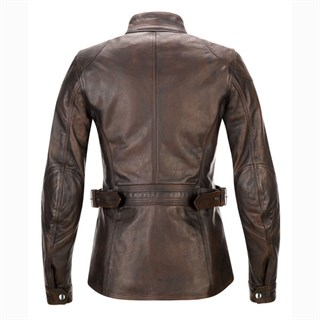 Belstaff Crystal Palace leather ladies jacket in brownAlternative Image1