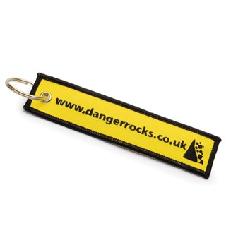 Danger Rocks Fabric Keychain Alternative Image1