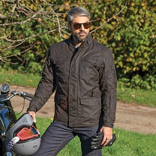 Furygan Thruxton wax cotton jacket in brownAlternative Image2