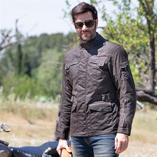 Furygan Thruxton wax cotton jacket in brownAlternative Image3