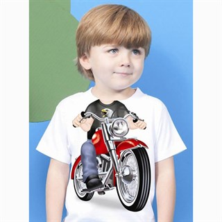 Little Tees Boys Biker T-ShirtAlternative Image1