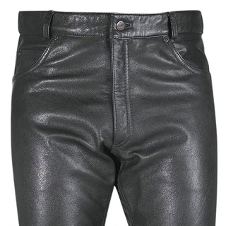 Halvarssons leather jeans in black Alternative Image1