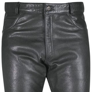 Halvarssons ladies leather jeans in black Alternative Image1