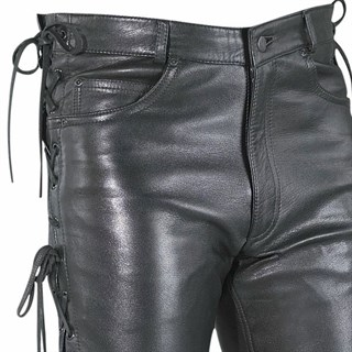 Halvarssons string jeans in black Alternative Image1