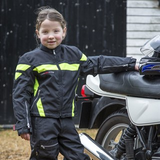 Halvarssons Gobi Junior jacket in black Alternative Image2