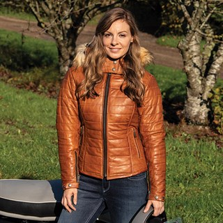 Helstons Light ladies jacket in camelAlternative Image2