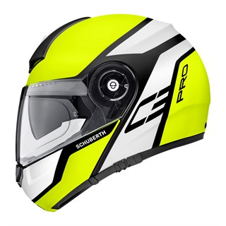Schuberth C3 Pro helmet in echo yellowAlternative Image1