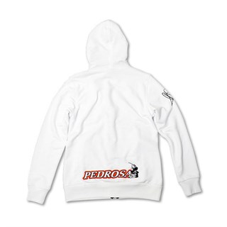 Dani Pedrosa Ladies Zip Hoodie WhiteAlternative Image1