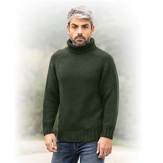 Motolegends Woollen Rollneck in oliveAlternative Image1