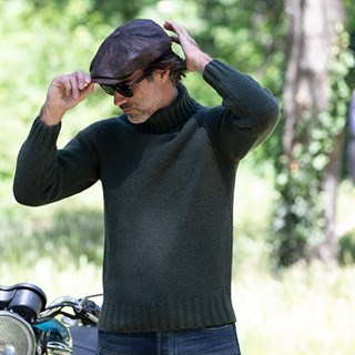 Motolegends Woollen Rollneck in oliveAlternative Image2