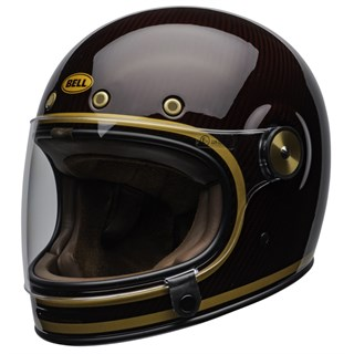 Bell Bullitt Carbon Transcend Gloss helmet in candy red and goldAlternative Image2