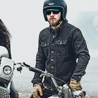 Rokker Denim Rider shirt in blueAlternative Image2