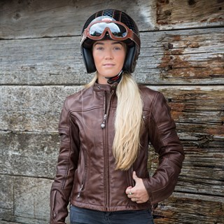 Roland Sands ladies Maven jacket in tobaccoAlternative Image2