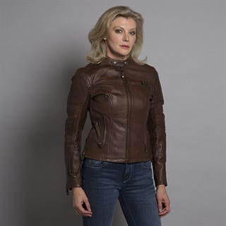 Roland Sands ladies Maven jacket in tobaccoAlternative Image3