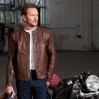 Roland Sands Barfly jacket in tobaccoAlternative Image2