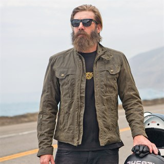 Roland Sands Kent jacket in greenAlternative Image2