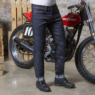 Resurgence Cafe Racer Raw skinny leg jeans in blueAlternative Image1