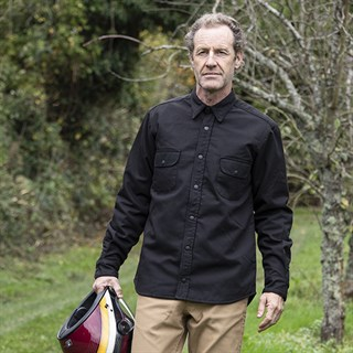 Resurgence Riding shirt in black canvasAlternative Image2