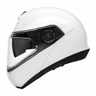 Schuberth C4 Pro Gloss helmet in whiteAlternative Image1