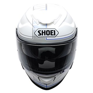 Shoei GT Air 2 Crossbar TC2 helmet in white / blue Alternative Image1