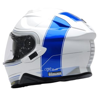 Shoei GT Air 2 Crossbar TC2 helmet in white / blue Alternative Image2