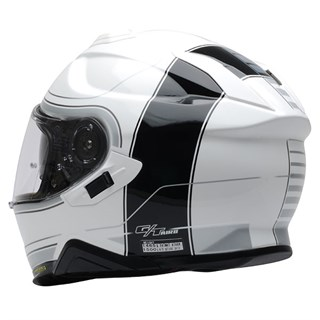 Shoei GT Air 2 Crossbar TC6 helmet in white / black Alternative Image2