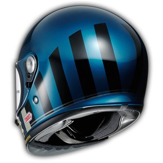 Shoei Glamster Resurrection TC5 helmet in blue & blackAlternative Image1