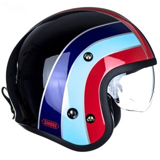 Shoei JO Nostalgia TC-10 helmet in black/ blueAlternative Image1