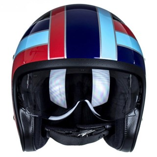 Shoei JO Nostalgia TC-10 helmet in black/ blueAlternative Image2