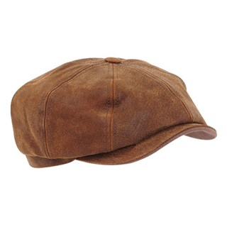 Stetson Hatteras Pig Leather Cap in tanAlternative Image1