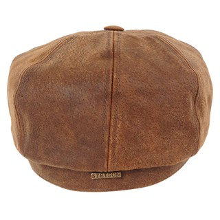 Stetson Hatteras Pig Leather Cap in tanAlternative Image2