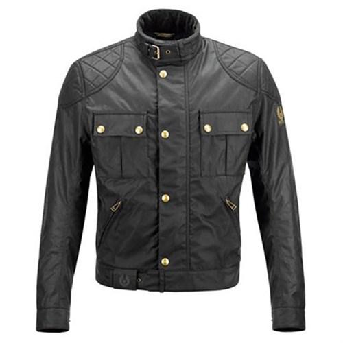 Belstaff Mojave Wax Cotton Jacket In Black