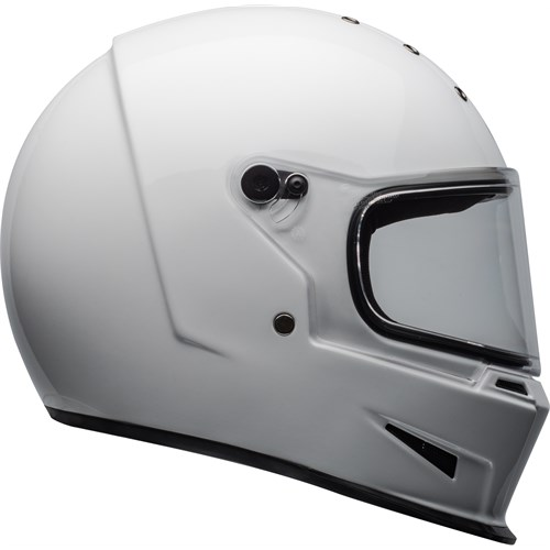 Bell Eliminator white helmet
