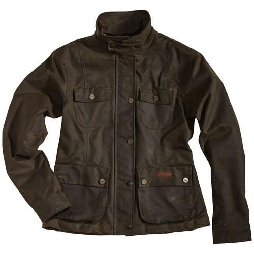 Rokker Wax Cotton Ladies jacket Green Xs