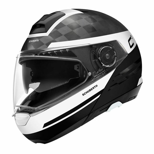 Schuberth C4 Pro Carbon Tempest helmet in white