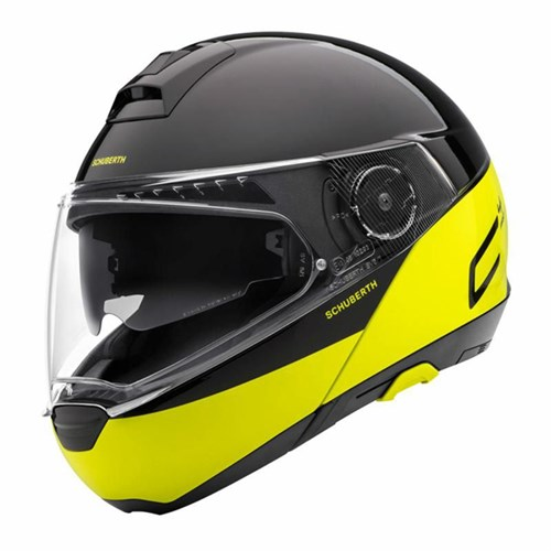 Schuberth C4 Pro Swipe helmet in yellow
