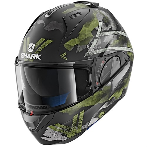 SHARK EVO-ONE 2 helmet Skuld green