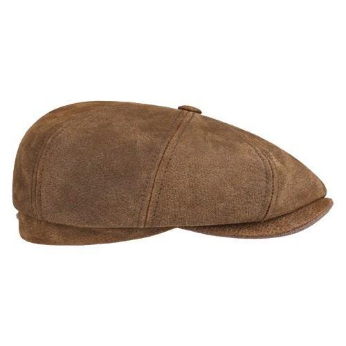 Stetson Hatteras pigskin cap in tan 04efd79a12f