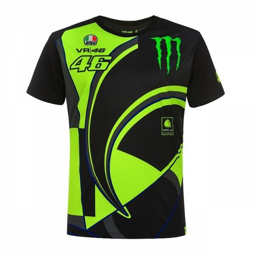 b9278c86 Valentino Rossi VR46 2019 Monster T-shirt in black (VAL1601)