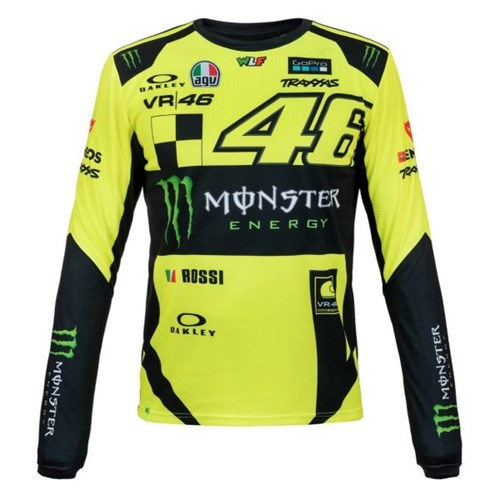 28991d986 Valentino Rossi VR46 2019 Monster long sleeve T-shirt in yellow (VAL1602)