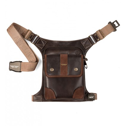 Artonvel Aviator Leather Leg Bag In Brown