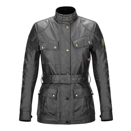 Belstaff Trialmaster ladies wax cotton jacket in black
