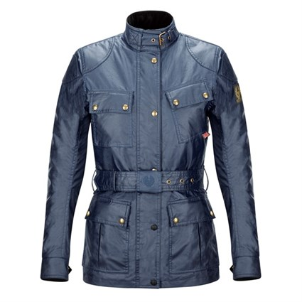 Belstaff Trialmaster wax cotton ladies jacket in navy